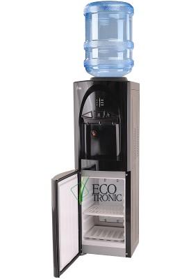 Кулер для воды напольный Ecotronic C4-LS Black со шкафчиком-озонатором