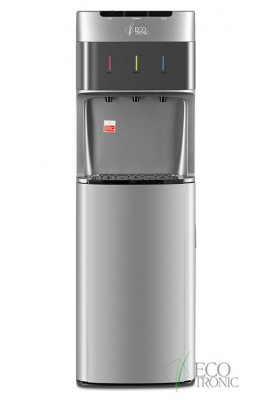Кулер для воды с нижней загрузкой бутыли Ecotronic M30-LXE silver+SS
