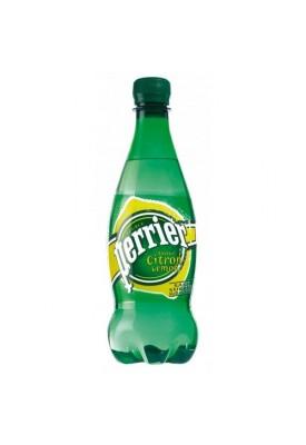 Вода газированная минеральная Perrier (Перье) лимон 0,5 л пластик