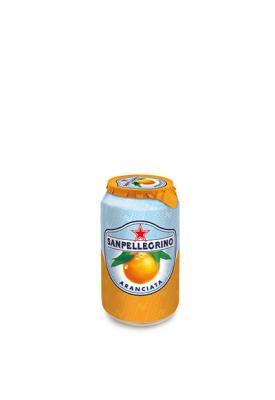Фруктовый напиток S.Pellegrino (С.Пеллегрино) 0,33 л алюминиевая банка Апельсин