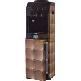 Кулер для воды  напольный Aqua Work 833-S-B с холодильником Стеганная кожа бежевая
