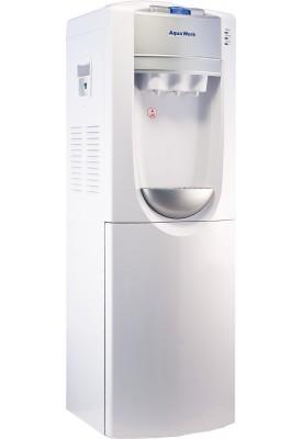 Кулер для воды напольный Aqua Work 712-S-В с нагревом и компрессорным охлаждением, с холодильником