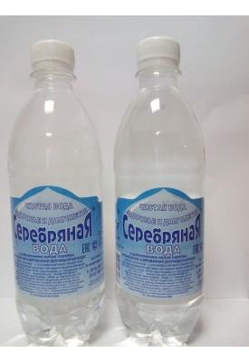 """Питьевая негазированная доочищенная  """"Серебряная вода"""" 0,5"""