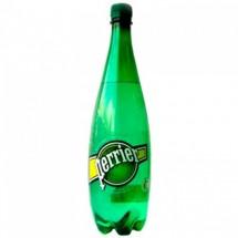 Вода газированная минеральная Perrier (Перье) 1,0 л пластик